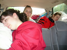 Tired girls on our way to our trip!