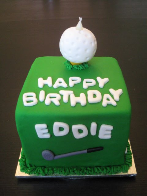 Chocolate Pink Golf themed birthday cake