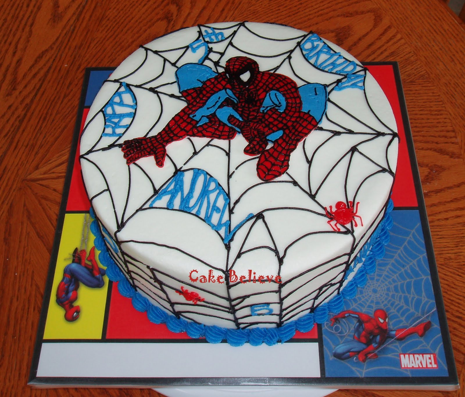 Spiderman Cake Design Pictures : Cake Believe: Spiderman!