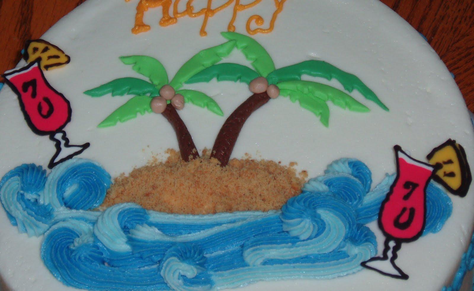 Cake Believe 70th Beach Birthday