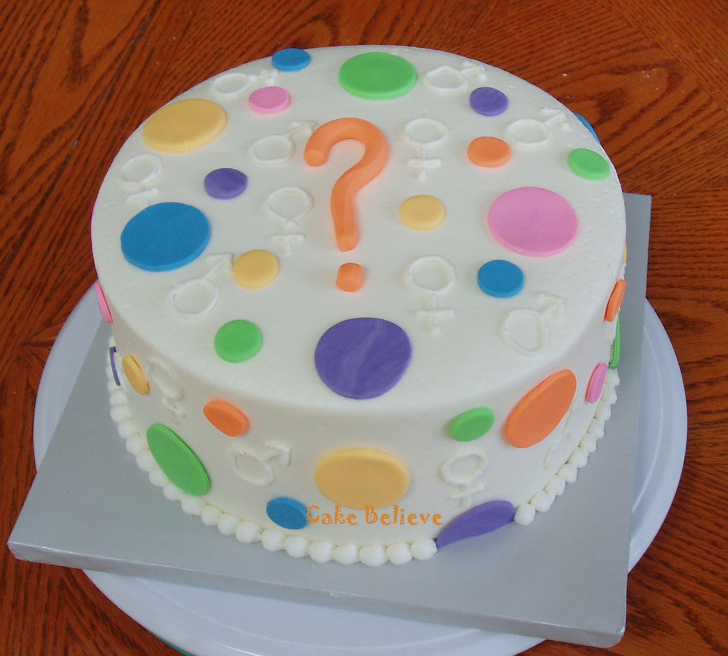 Cake Design Questions : Cake Believe: Baby Gender Reveal Cake