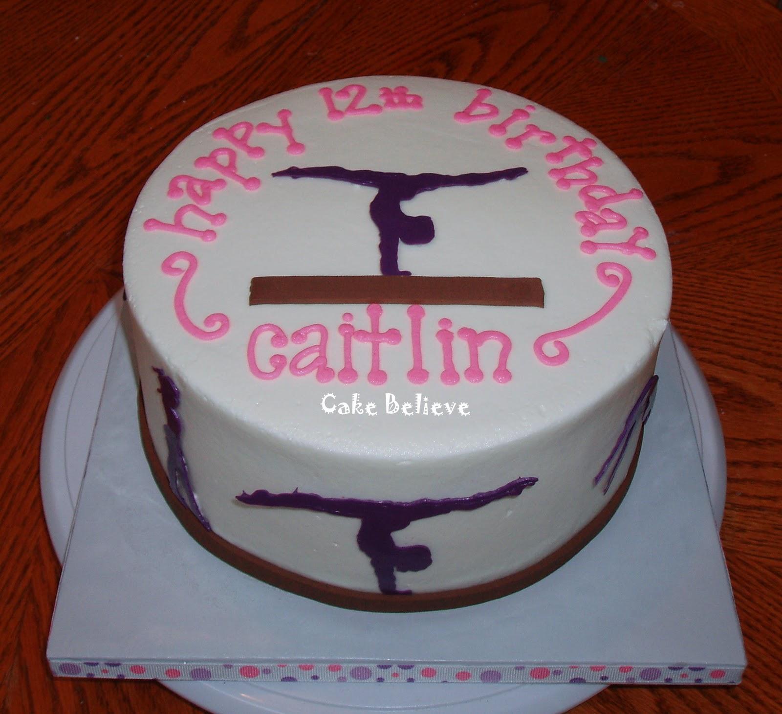 Cake Believe Gymnastics Girl