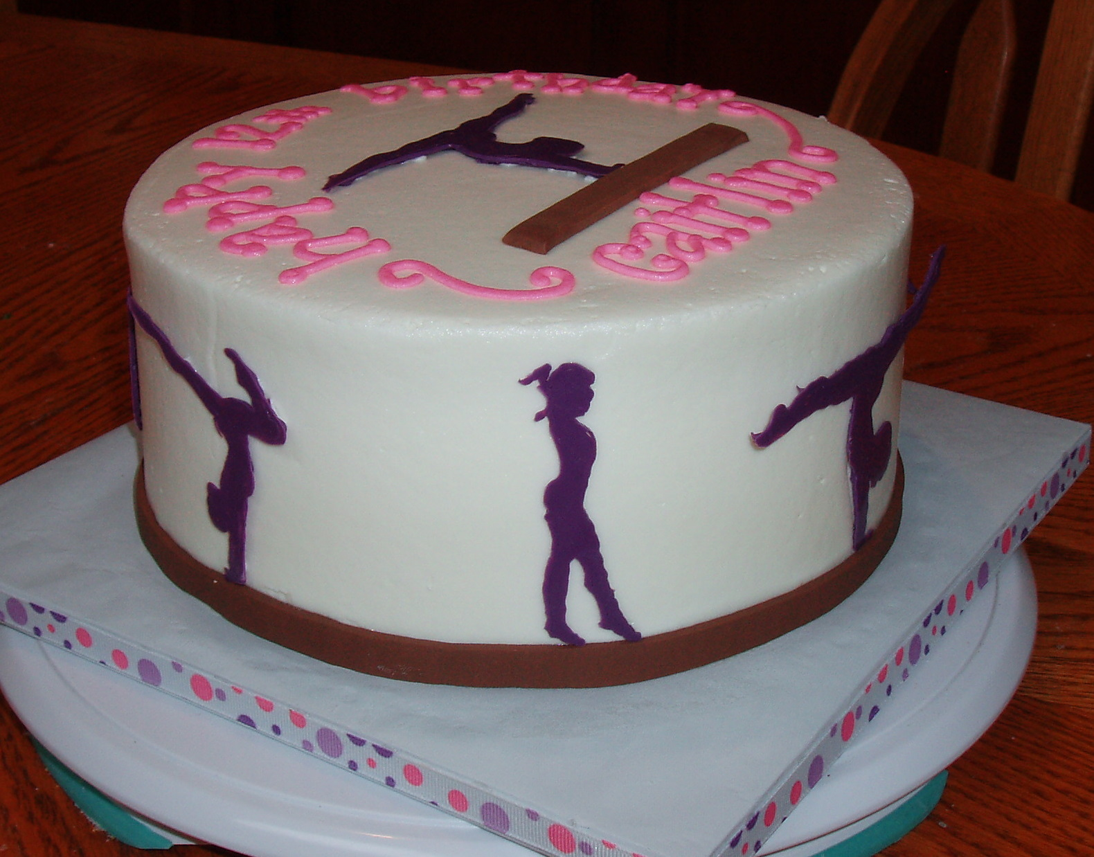 Cake Decorating Ideas Gymnastics : Cake Believe: Gymnastics Girl