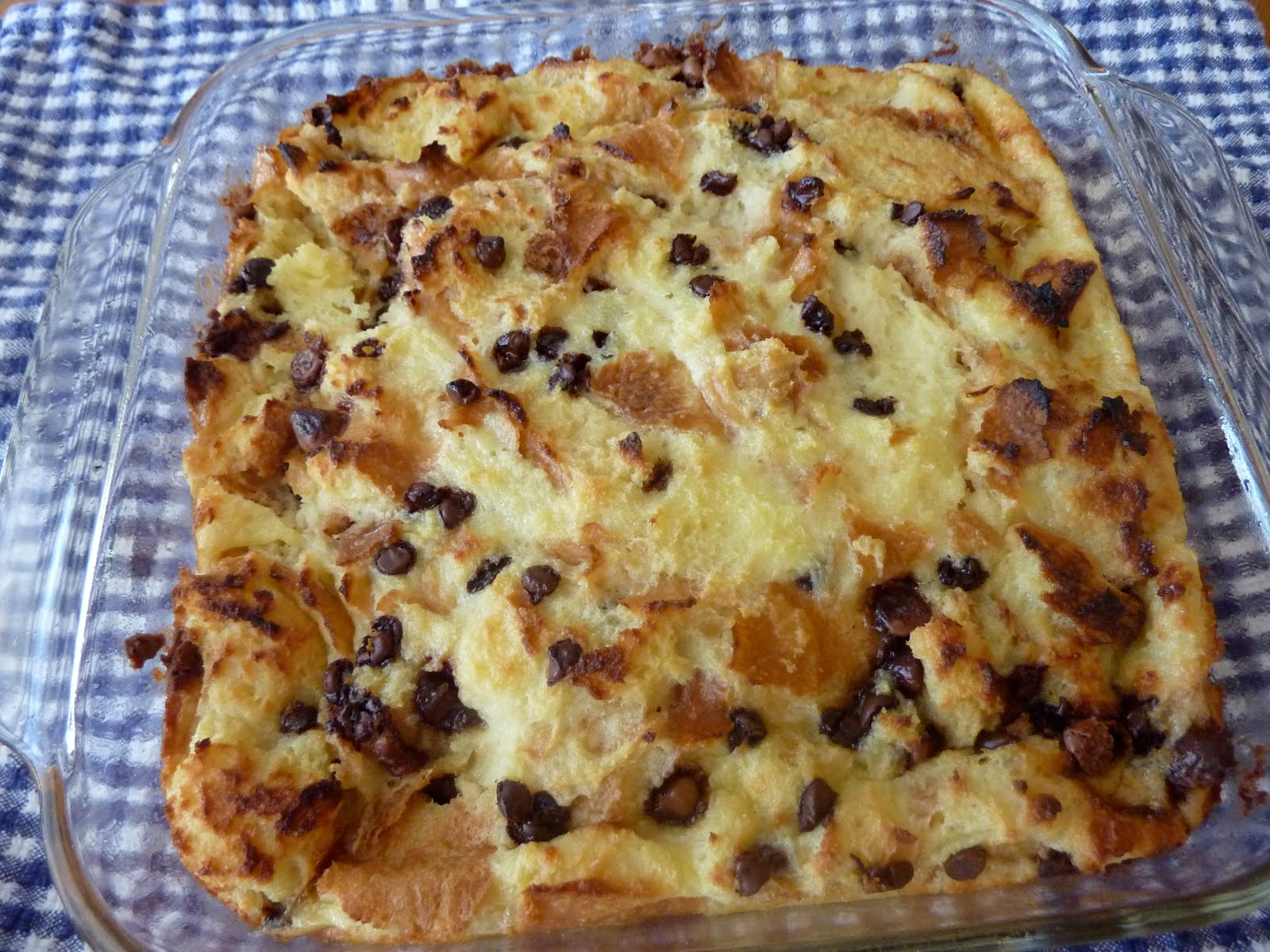 The Open Fridge: Chocolate Chip Bread Pudding