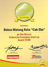 "Bakso Malang Kota ""Cak Eko"" The Winner Indonesia Franchise Start-Up 2009"