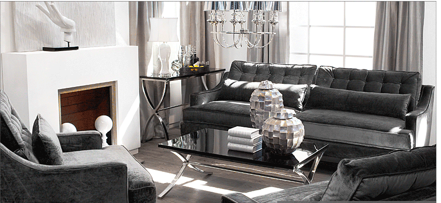 Alicia hanson design blog glamour living room for Z gallerie living room ideas