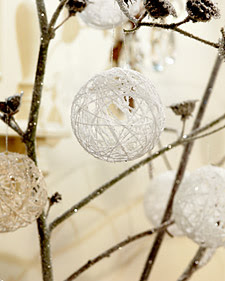 Christmas white ball ornaments