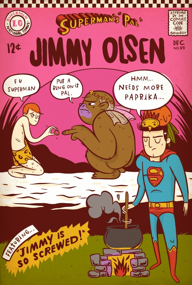 Modern Book Cover Quest ~ Covered lauren gregg covers superman s pal jimmy olsen