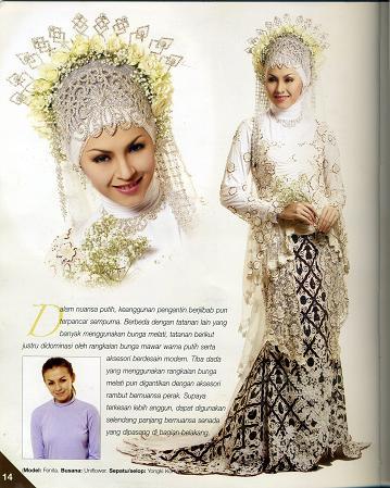 gaya berkerudung pengantin muslim