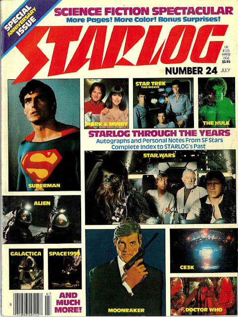 Starlog Magazine #24: 1979 Superman/Star Wars/Trek/Mork and Mindy/Alien/Galactica/