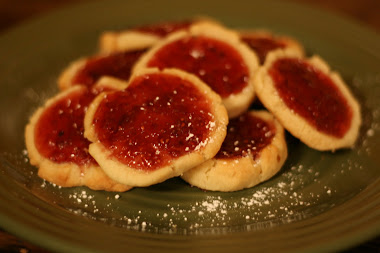 Raspberry Irish Butter Cookies