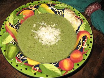 Creamy Spinach Soup w/Shaved Romano Pecorino