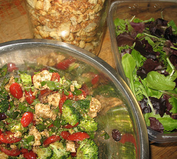 Salad Greens, Homemade Croutons, and The Good Stuff!