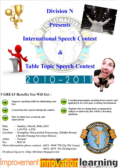 international speech contest amp table topic contest 2010