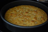 Orange Olive Oil Pine Nut Cake via The Naptime Chef