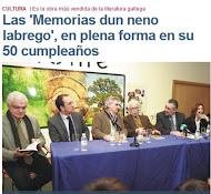 """50 Aniversario da publicación do libro """"      Memorias dun neno labrego"""""""