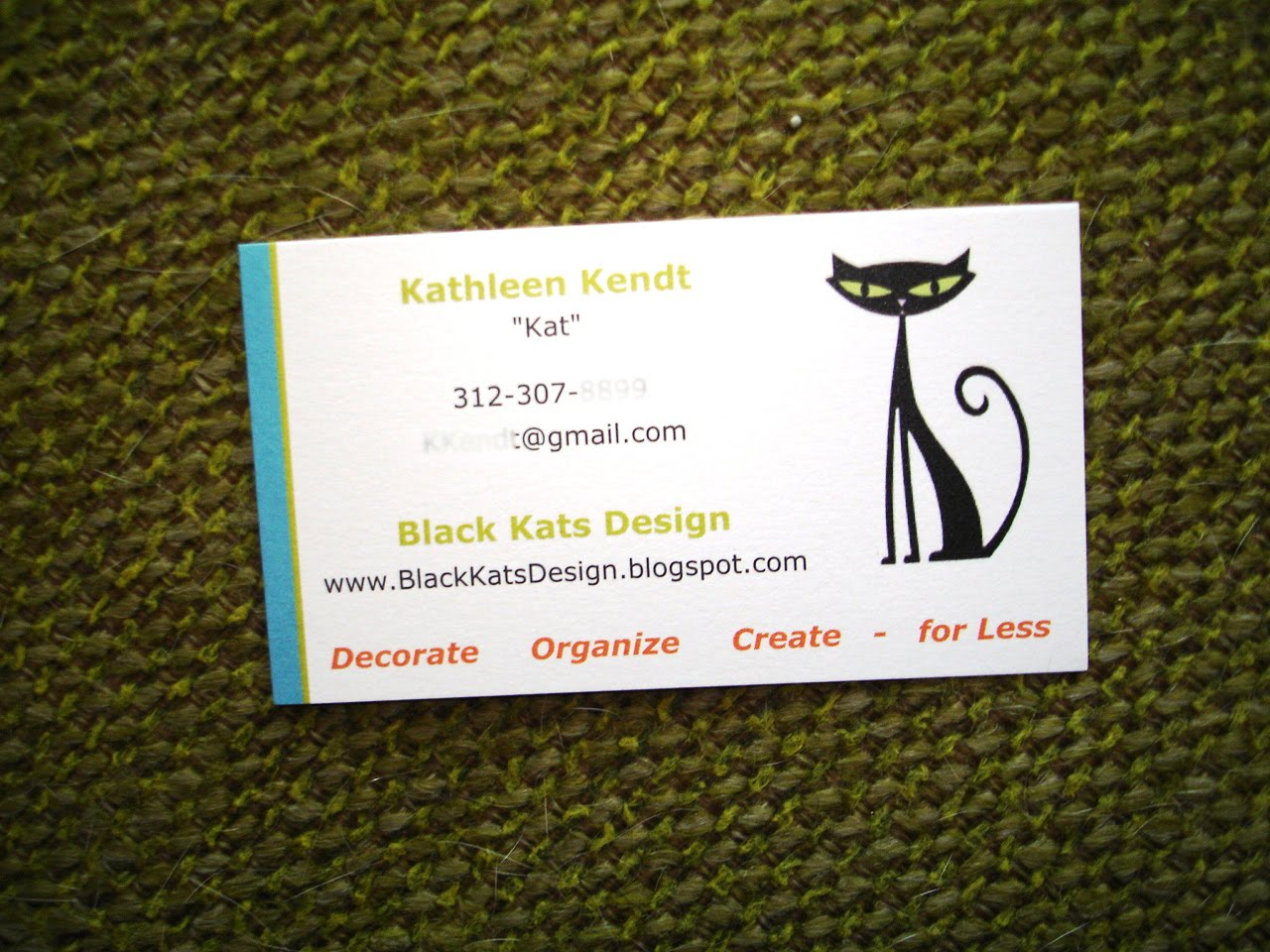 Black Kat\'s Design: Business Card Holder