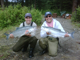 A pair of big chrome Kenai River Sockeye Salmon
