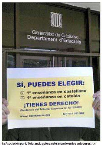 Campaña en defensa del bilingüismo escolar
