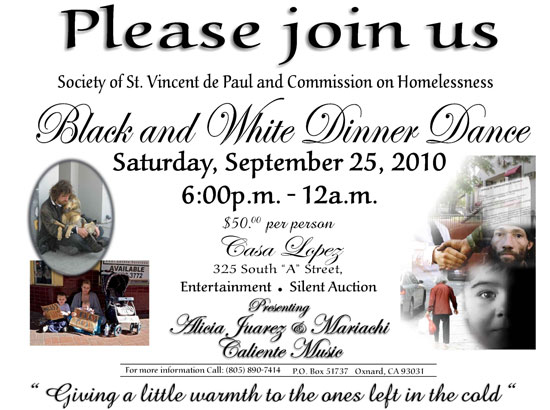 Reminder: Dinner/Dance event for winter shelter in Ventura County