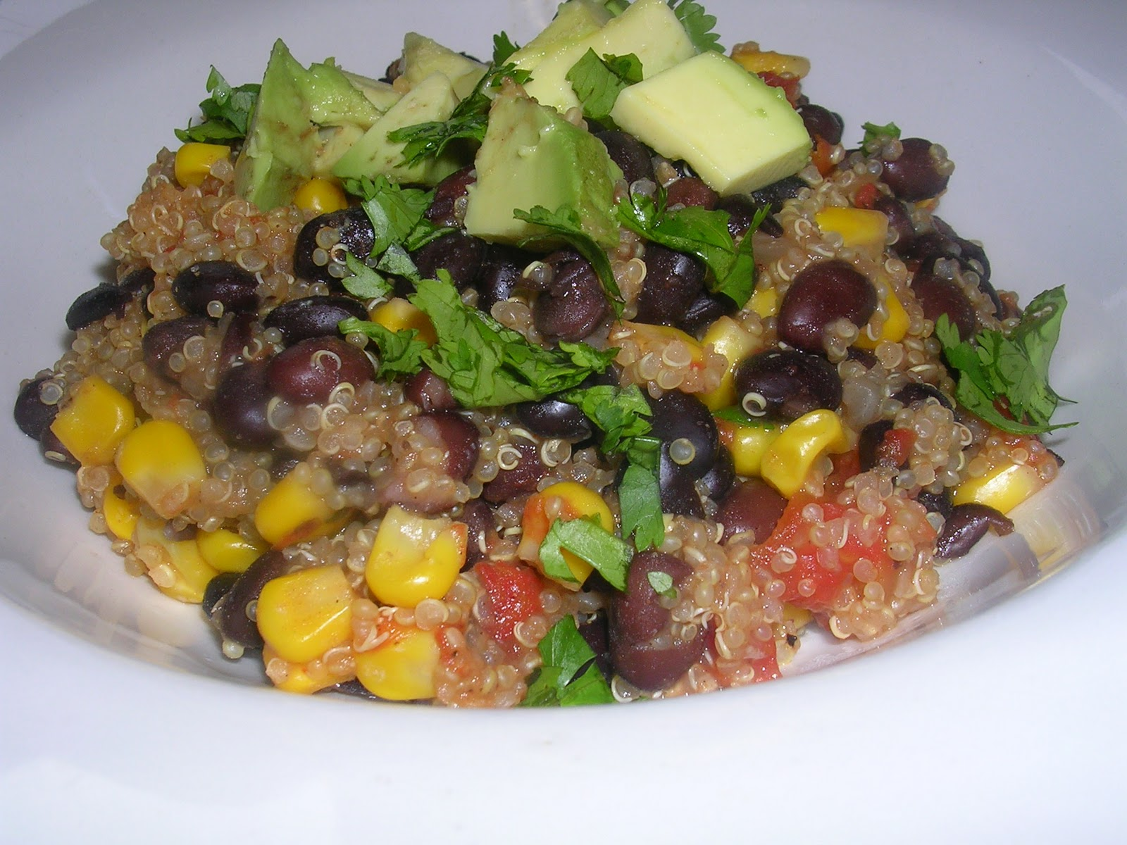 belly bites: Quinoa and Black Beans.