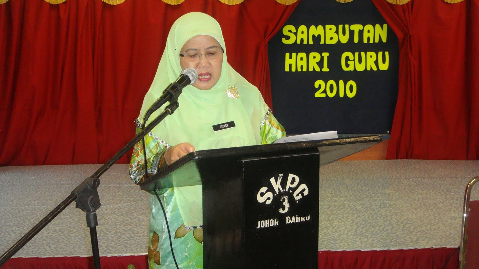 pembacaan perutusan Menteri Pelajaran Malaysia