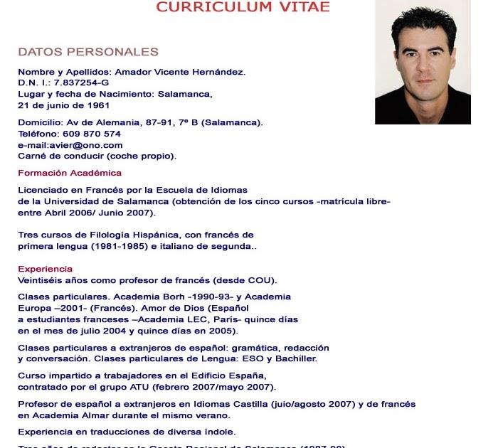 Globporlocen Ejemplos De Curriculum