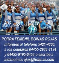 Porra Oficial Femenil Boinas Rojas