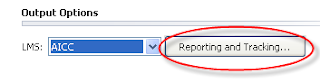 Reporting and Tracking... button