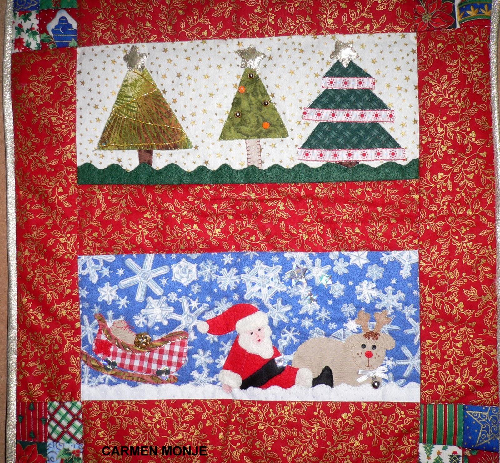 Trabajos de mis alumnas mural navide o de carmen monje for Mural navideno