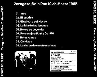 entrada concierto zaragoza heroe silencio: