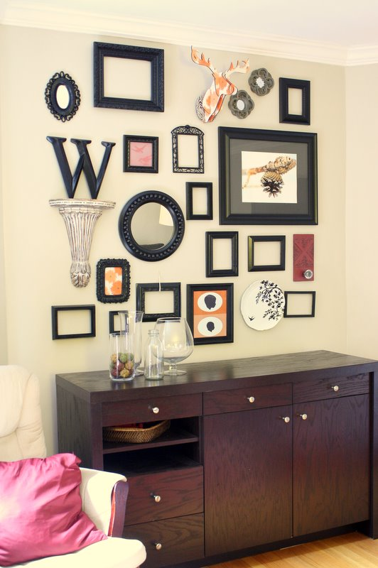 Remodelaholic Wall Decor Frame Collage Guest