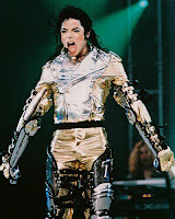 Michael Jackson on the stage