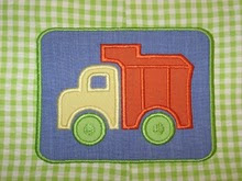Dump truck applique in patch--can be done without patch
