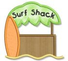 Surf Shack Applique