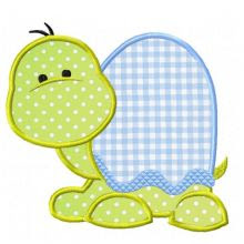Sweet Turtle applique--cute to put inititials on turtle shell