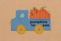 Pumpkins for sale Truck Applique