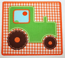 Tractor Patch Applique