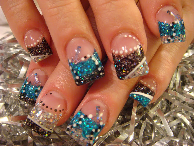 design with gel paint nails