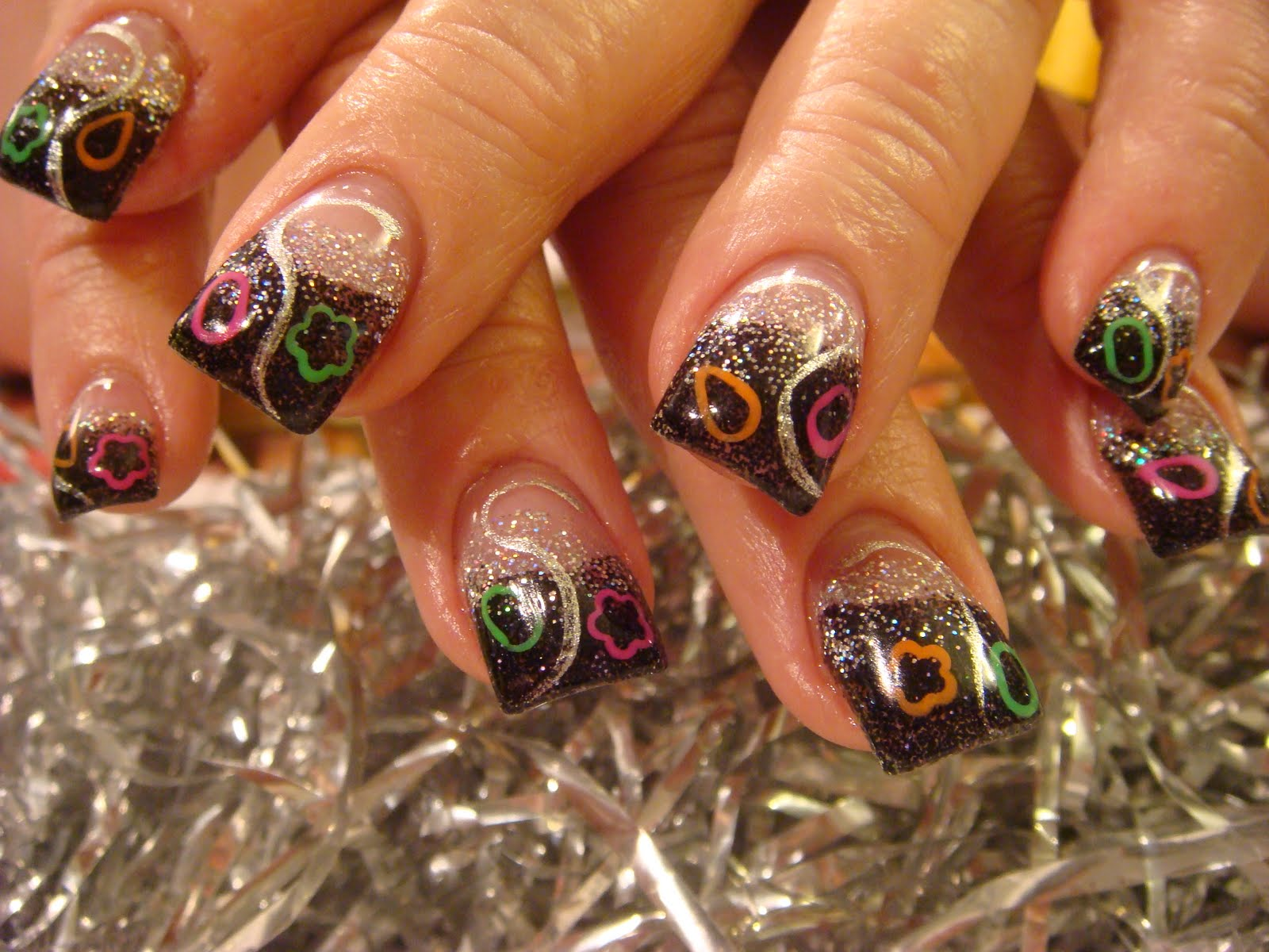 Impression nail art nails acrylic prinsesfo Images