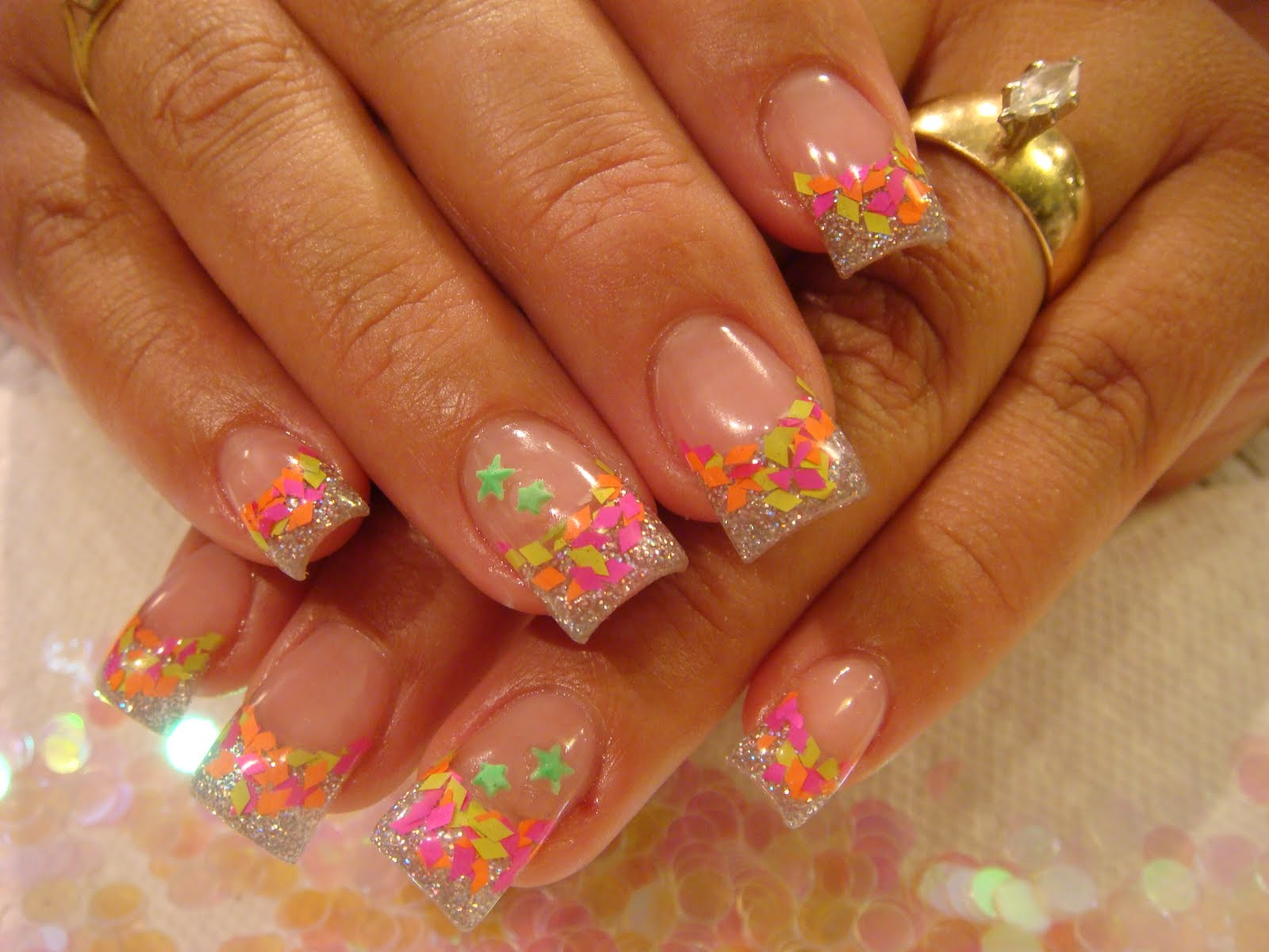 cute acrylic nail designs - photo #41
