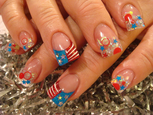 acrylic patriotic nails
