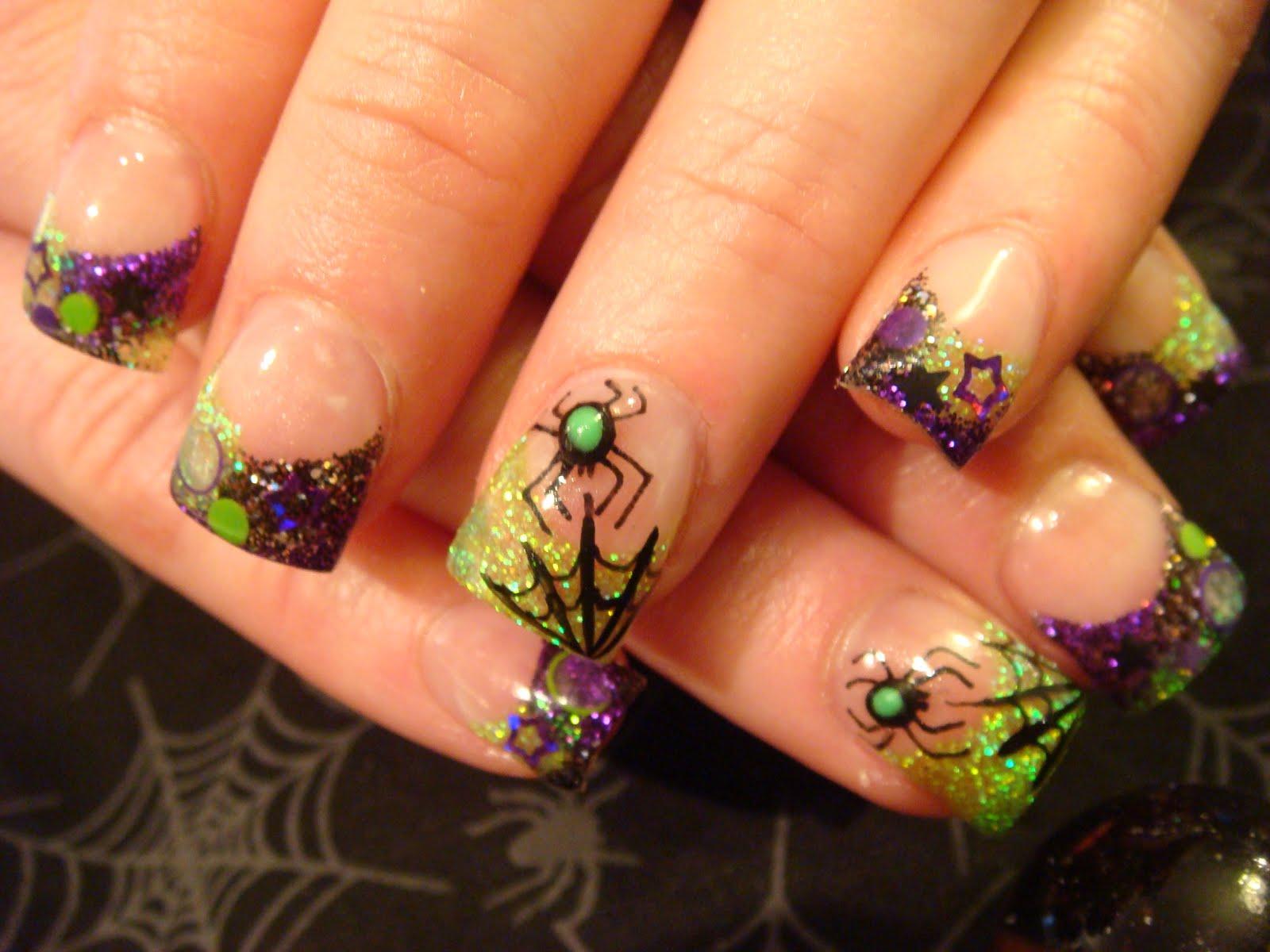 Nail art halloween ooh lala - Nail art halloween ...
