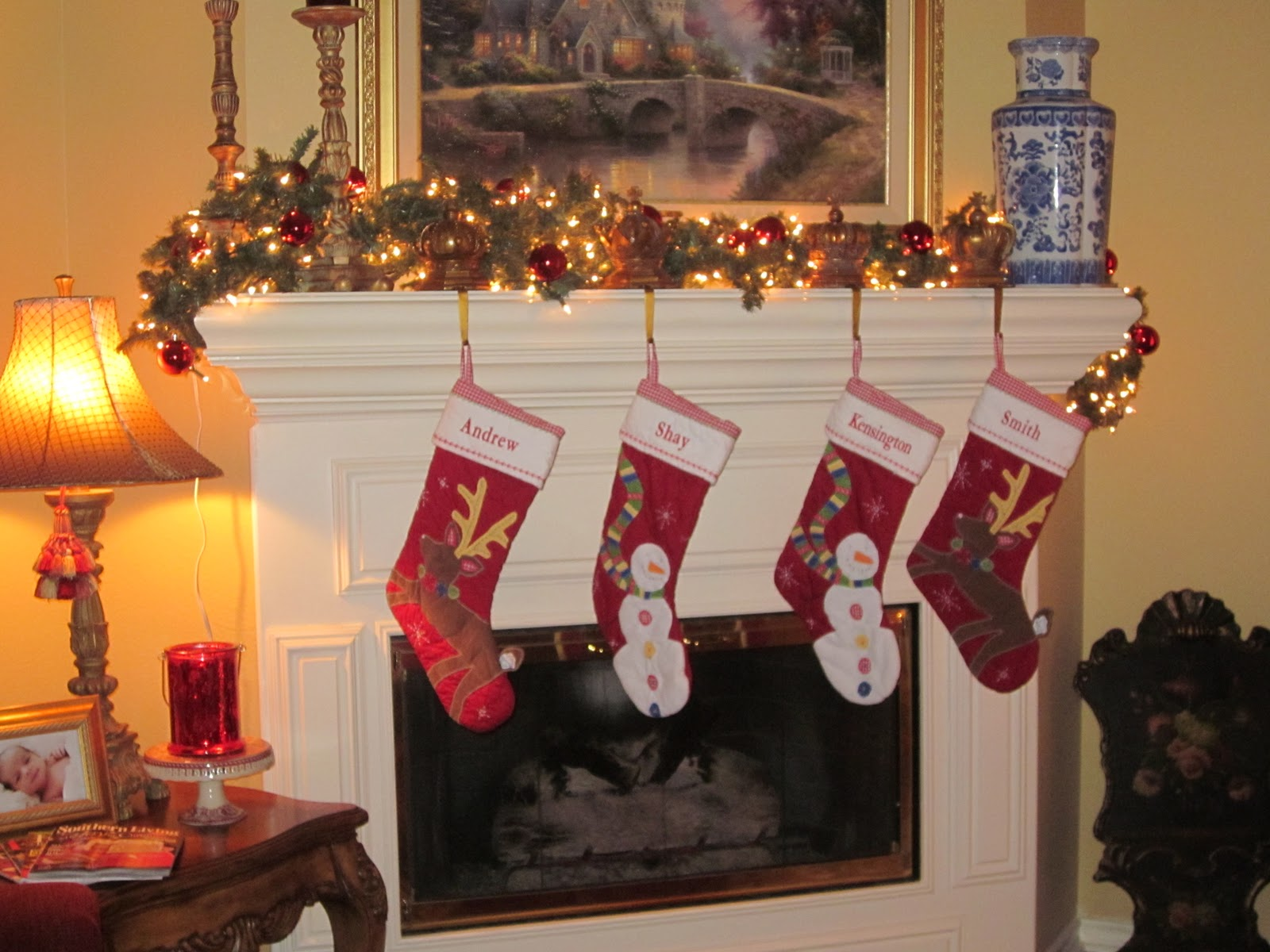 The stockings were hung by chimney with care mix and