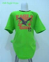 busana anak branded oshkosh motif elang hijau