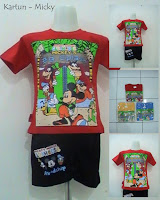 baju kartun motif micky mouse