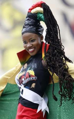 Miss Jamaica's a Rasta role model