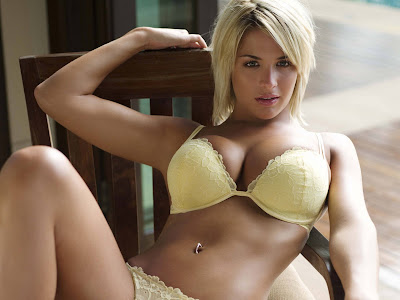 Gemma Atkinson learns to fly