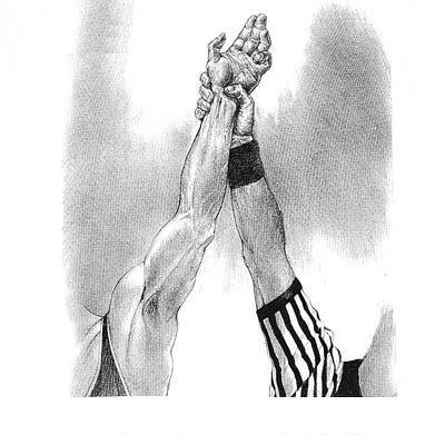 رفع-الحكم-يد-المصارع-الانتصار-الفوز-wrestling-win-referee-hand-raised