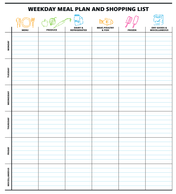 meal planning template with grocery list - simply alicia real simple 39 s meal planner shopping list